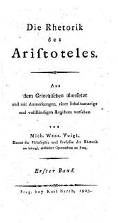 Die Rhetorik des Aristoteles: Band 1