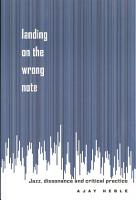 Landing on the Wrong Note PDF