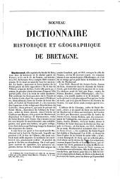 Dictionnaire historique et géographique de Bretagne