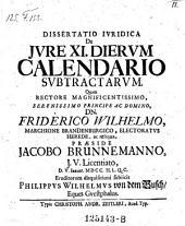 De jure 11 dierum calendario subtractarum; resp. Phil. Wilh. von dem Busch