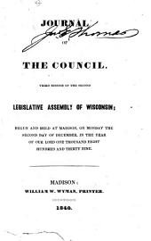 Journal of the Council of the ... Legislative Assembly of Wisconsin
