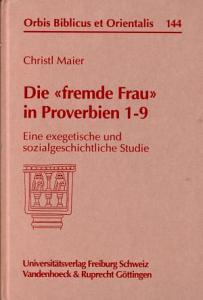 Die  fremde Frau  in Proverbien 1 9 PDF