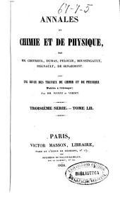 Annales de chimie et de physique: Volume52
