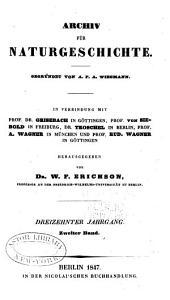 Archiv für Naturgeschichte: Band 13,Teil 2