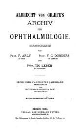 Albrecht von Graefes Archiv für Ophthalmologie: Bände 26-27