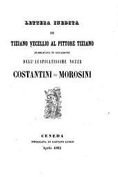Lettera inedita al pittore Tiziano