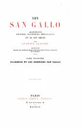 Les San Gallo: Florence et les derniers San Gallo