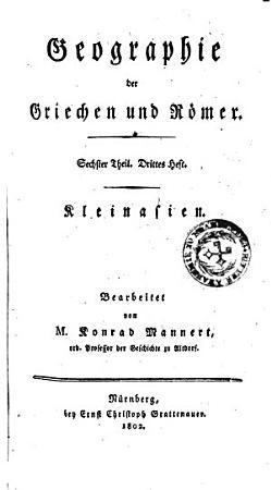 Geographie der Griechen und R  mer aus ihren Schriften PDF