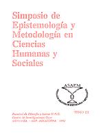 Simposio de Epistemolog  a y Metodolog  a en Ciencias Humanas y Sociales PDF