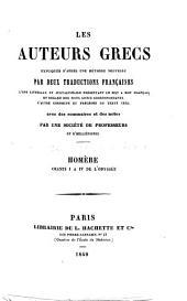 Homère. Chants I à IV de l'Odyssée. (Expliqués littéralement, traduits en français et annotés par M. Sommer.).