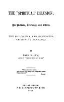The  spiritual  Delusion PDF