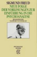 Neue Folge der Vorlesungen zur Einf  hrung in die Psychoanalyse PDF