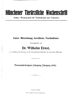 M  nchener tier  rztliche wochenschrift PDF