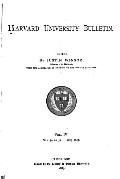 Download Harvard University Bulletin Book