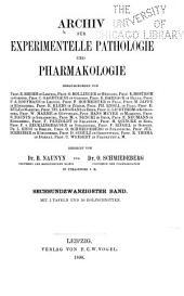 Archiv für Pharmakologie und experimentelle Pathologie: Volume 26
