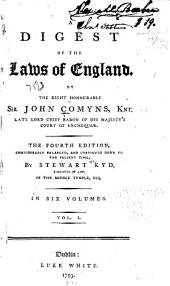 A Digest of the Laws of England: Volume 1