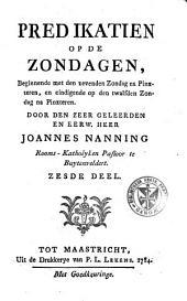 Predikatien op de zondagen, beginnende met den negentienden Zondag na Pinxteren, en eindigende op den laatsten Zondag na Pinxteren: Volume 6