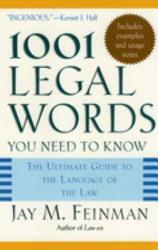 One Thousand And One Legal Words You Need To Know Book PDF