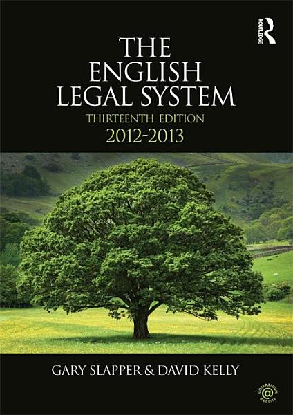 Download The English Legal System Book