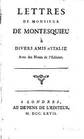 Lettres de Montesquieu