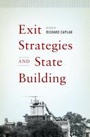 Exit Strategies and State Building PDF