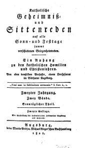 Katholische Geheimnis- und Sittenreden: Bände 1-2