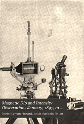 Magnetic Dip and Intensity Observations January, 1897, to June 30, 1902