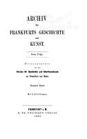 Archiv f  r Frankfurts Geschichte und Kunst PDF