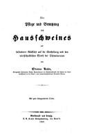 Die Pflege und Benutzung des Hausschweines PDF