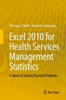 Excel 2010 for Health Services Management Statistics PDF