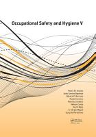 Occupational Safety and Hygiene V PDF