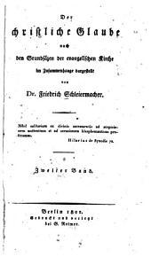 Der christliche Glaube: nach den Grundsätzen der evangelischen Kirche, Band 2