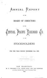 Report of the Directors of the Central Pacific Railroad Company to the Stockholders