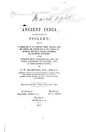 Ancient India as Described by Ptolemy