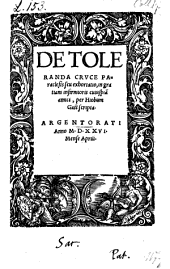 De toleranda cruce paraclesis seu exhortatio (etc.)