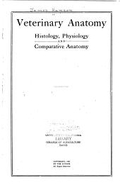 Veterinary Anatomy, Histology, Physiology and Comparative Anatomy