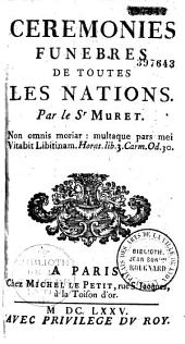 Cérémonies funèbres de toutes les nations, par Jean Muret