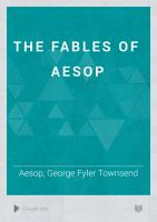 The Fables of Aesop PDF