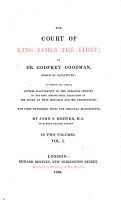 The Court of King James I  of the Most Distinguished Characters in the Court of that Monarch  etc   PDF