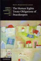 The Human Rights Treaty Obligations of Peacekeepers PDF