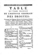 Histoire générale des drogues simples et Composées: Volume1