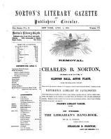 Norton s Literary Gazette and Publishers  Circular PDF