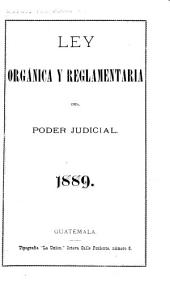 Ley orgánica y reglamentaria del poder judicial, 1889