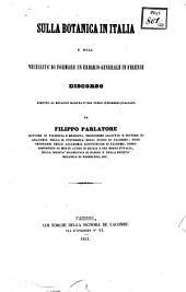Sulla Botanica in Italia e sulla necessità di formare un erbario in Firenze