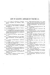 The Central Law Journal: Volume 42