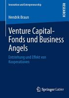 Venture Capital Fonds und Business Angels PDF