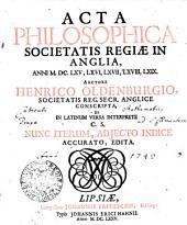 Acta philosophica societatis regiae in Anglia: anni 1665, 66, 67, 68, 69