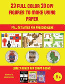 Fall Activities for Preschoolers  23 Full Color 3D Figures to Make Using Paper  PDF