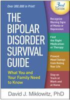 The Bipolar Disorder Survival Guide  Third Edition PDF