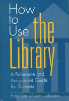 How to Use the Library PDF